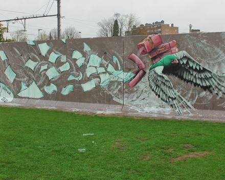 Graffitimuur TRAX