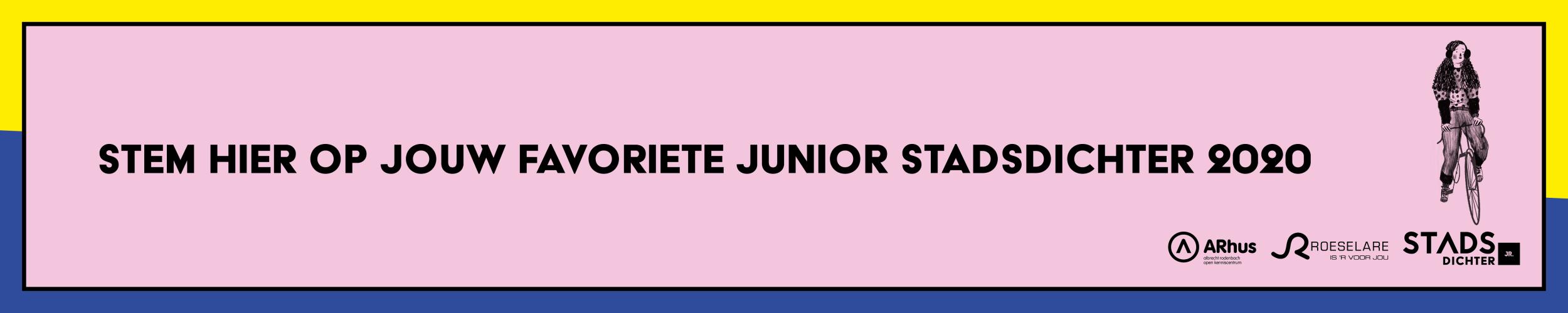 Stem op je favoriete Junior Stadsdichter 2020