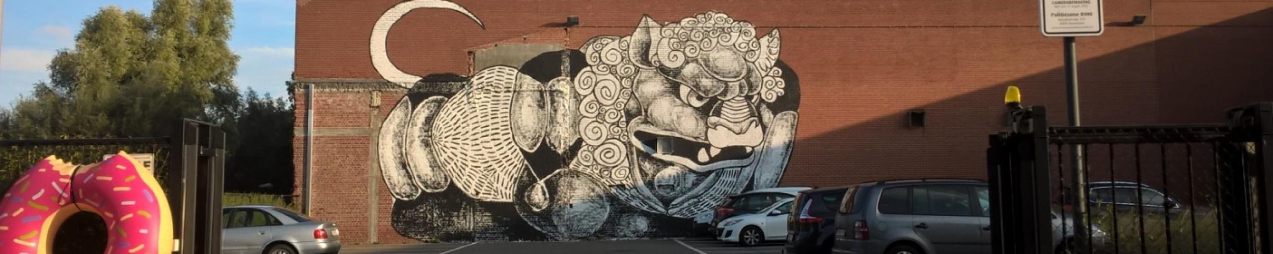 Graffitimuur Zwarte-Leeuwstraat