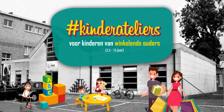 Kinderateliers voor winkelende ouders